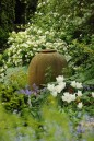 Monica Young urn in the Spring Garden